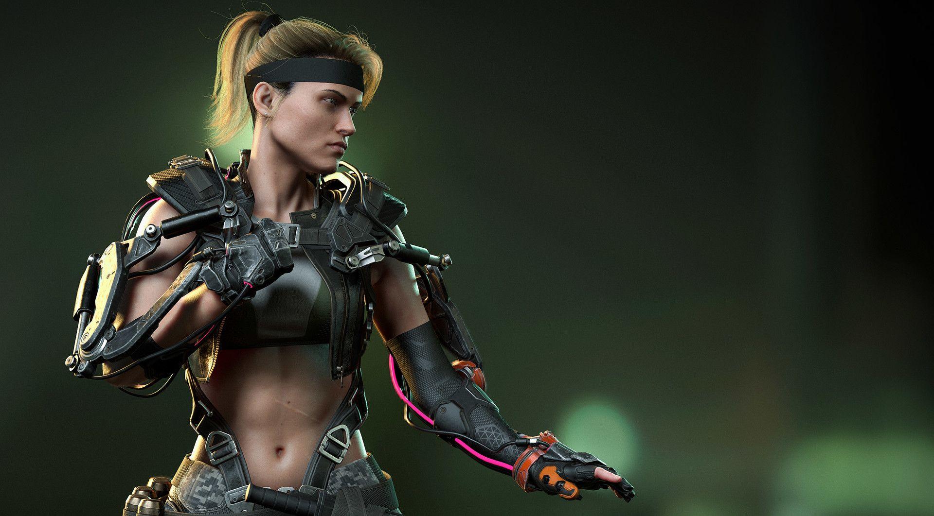 Artstation Sonya Blade Fight Stance Viewer Henrique