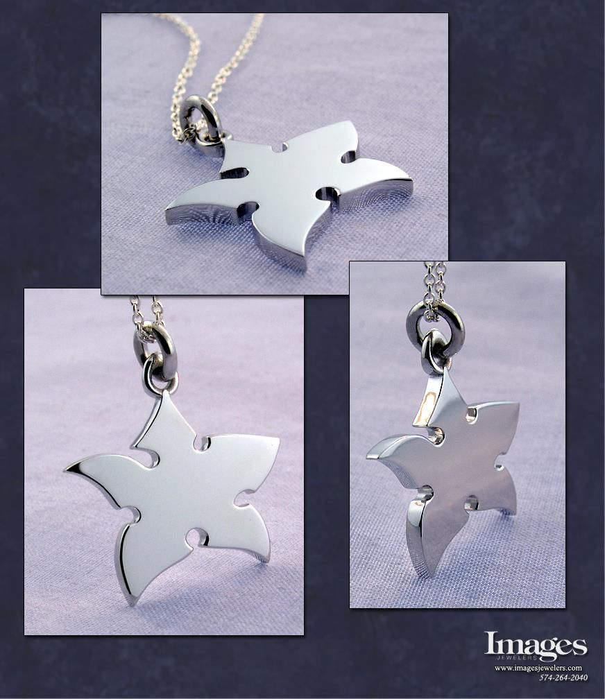 Custom Ninja Star Pendant