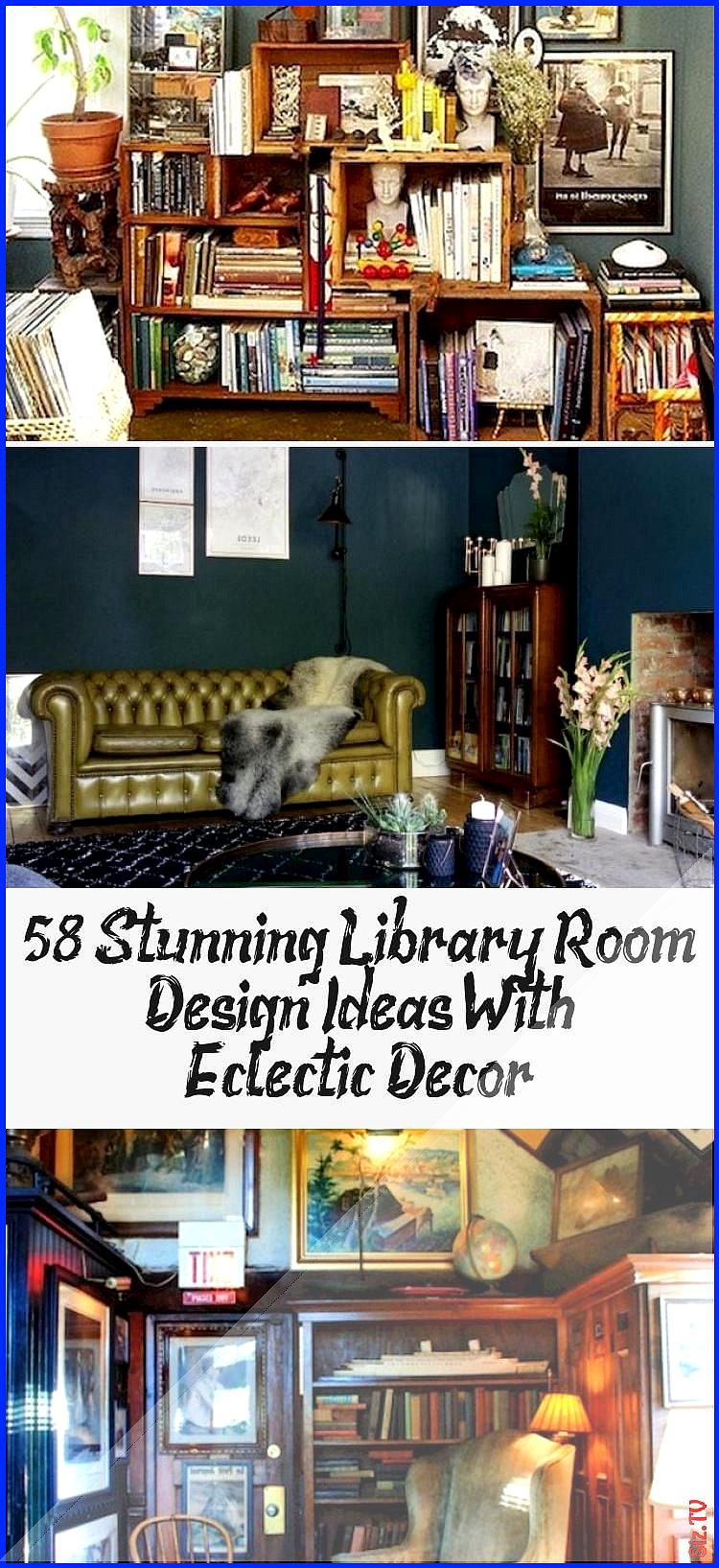 58 Stunning Library Room Design Ideas With Eclectic Decor 58 Stunning Library Room Design Ideas With Eclectic Decor Kelly Seay Kelly Seay 58 Stunning Library Room Design...