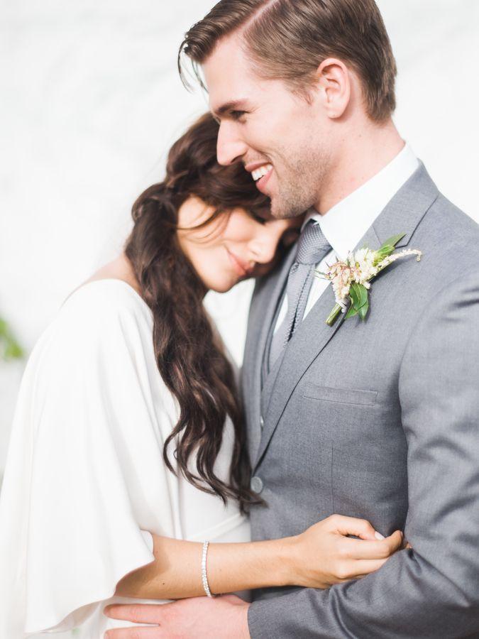 Classic Grey Grooms Wedding Style