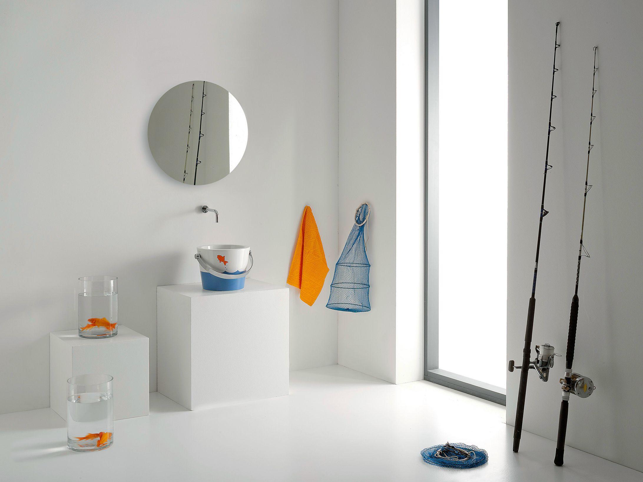 Disegno Bagno Per Bambini : Scarabeo ceramiche bucket lavabo da appoggio con manico t4h lavabi