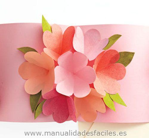 Tarjeta Pop Up Para El Dia De La Madre Tarjeta De Felicitacion Tarjetas De Felicitacion Manualidades
