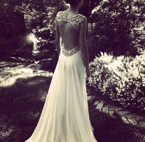 vestido novia espalda descubierta - Buscar con Google   Vestido ...