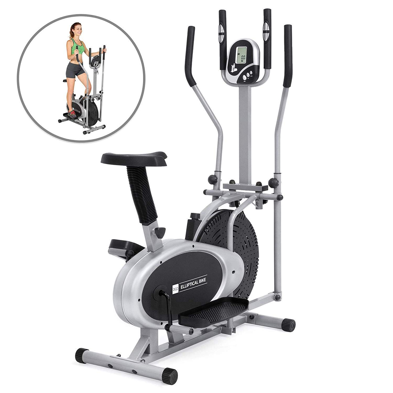 Elliptical Bike 2 In 1 Cross Trainer Exercise Fitness Machine Upgraded Model Want To Know More Click On T Workout Machines Biking Workout Elliptical Trainer