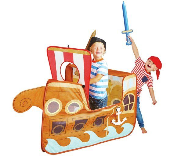 Buy Chad Valley Pirate Ship Pop Up Play Tent at Argos.co.uk  sc 1 st  Pinterest & Buy Chad Valley Pirate Ship Pop Up Play Tent at Argos.co.uk visit ...