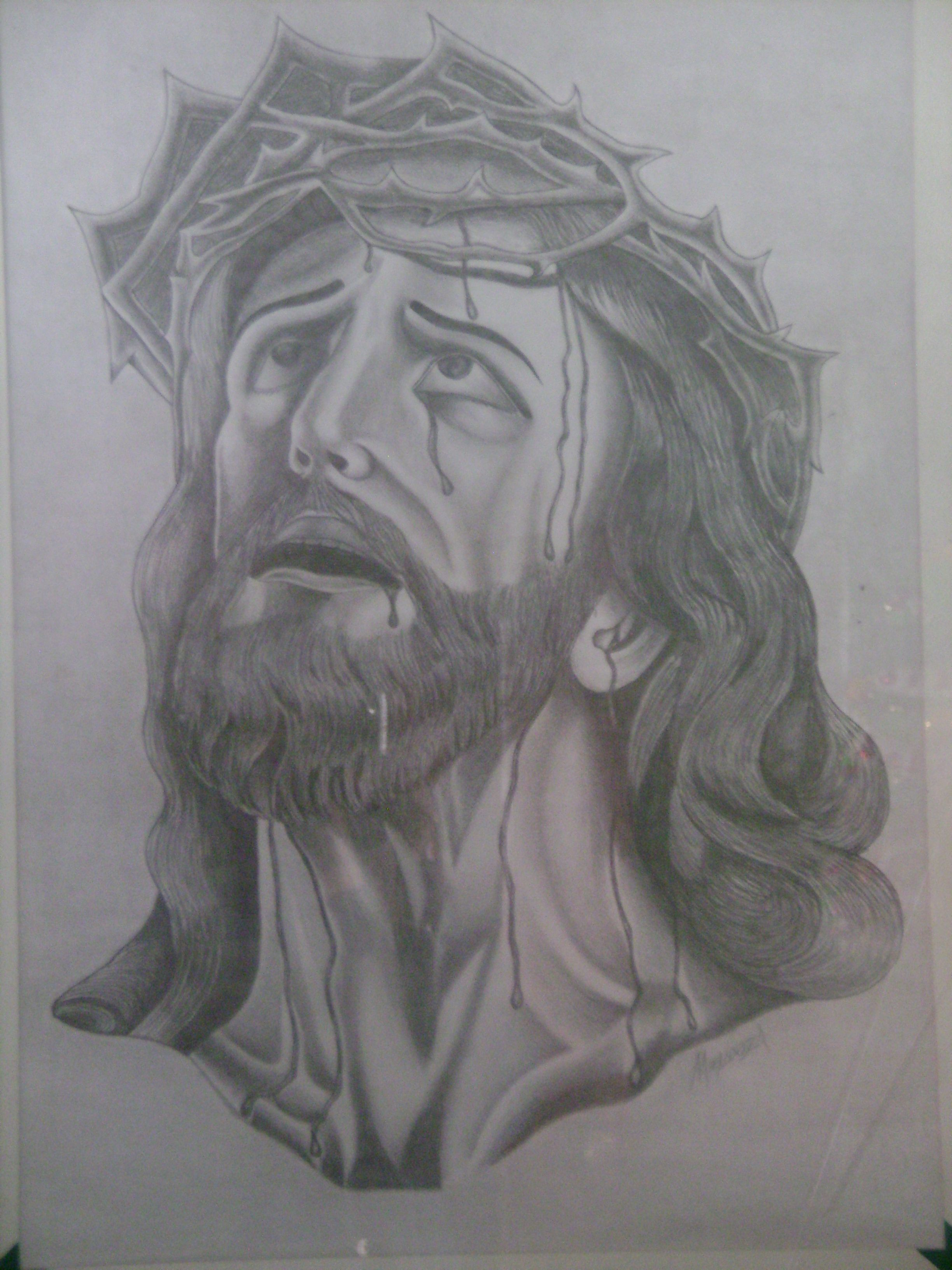Rostro De Cristo A Lapiz Sobre Cascaron De Huevo Dibujos A Lapiz Rostros Dibujos Proyectos Graficos