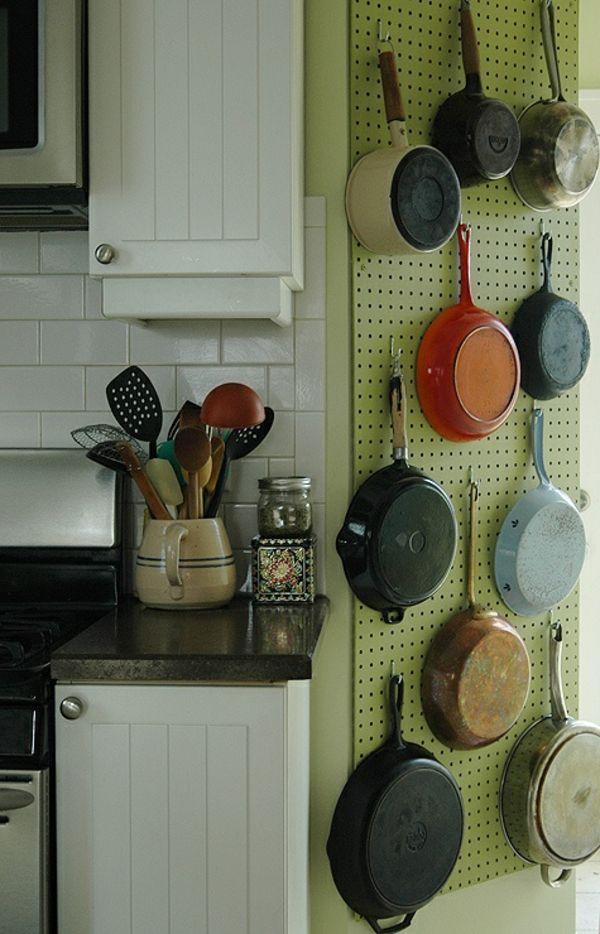 t pfe und pfannen 25 coole ideen f r die h ngende aufbewahrung living pinterest. Black Bedroom Furniture Sets. Home Design Ideas