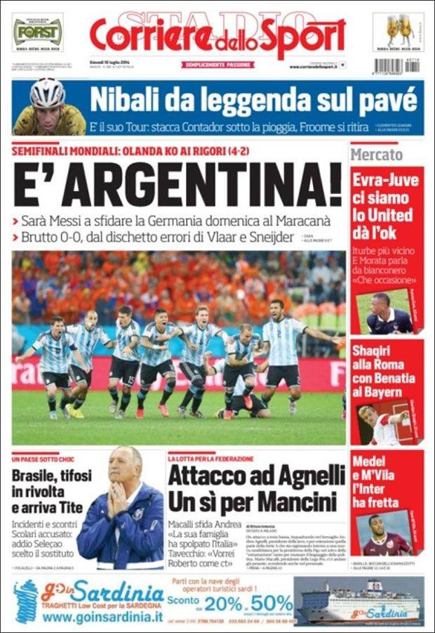 Corriere dello Sport Diseño editorial Periodicos