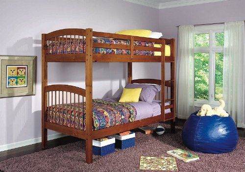 Diamond Lake Twin Twin Bunk Bed In Oak Beds 3 Bunk Beds Bed
