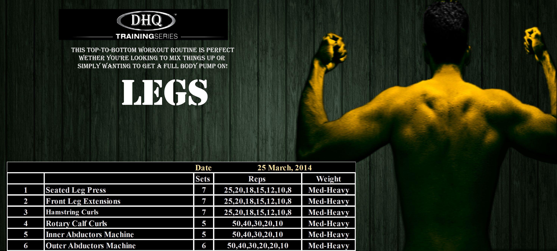 LEGS  25th March 2014
