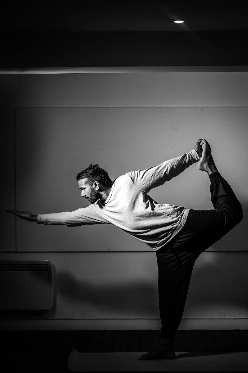 Me doing half moon Yoga pose. I teach here https ...
