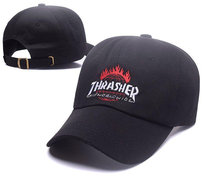 318d3402b969b Men s   Women s Thrasher x Huf TDS Tour De Stoops Worldwide Curved  Strapback Adjustable Hat - Black