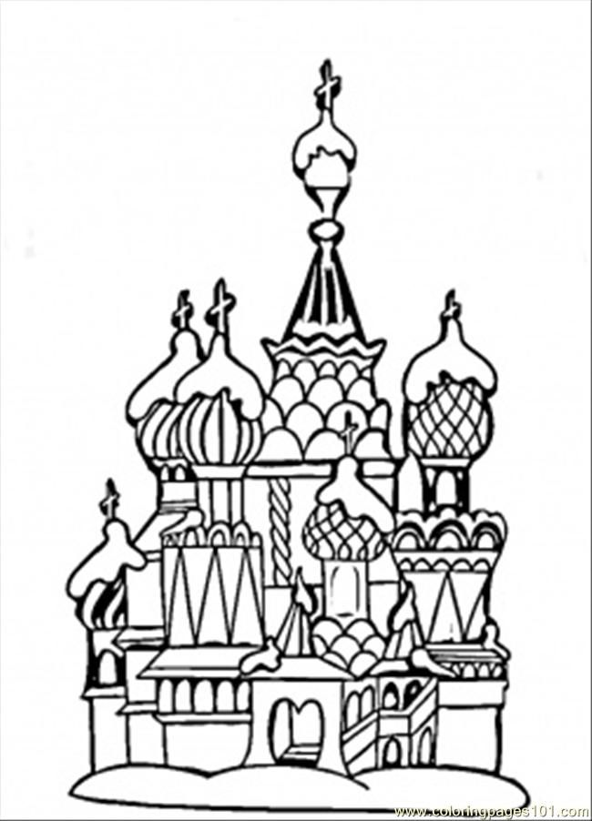 Coloring Pages Center Of Moscow Countries Gt Russia Free