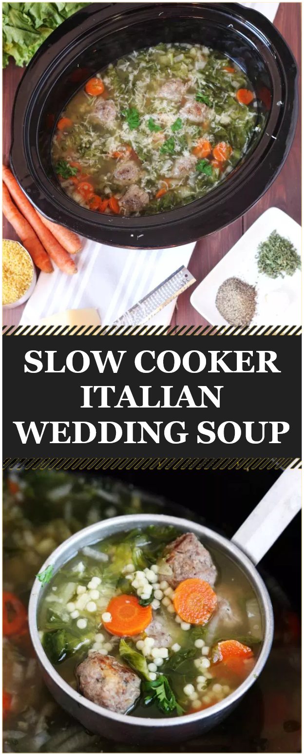 Slow Cooker Italian Wedding Soup Main dish recipes, Side