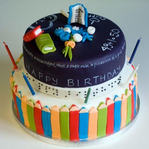 Surprising Birthday Cake Teacher Happy Birthday Mary Cake Fancy Cakes Birthday Cards Printable Inklcafe Filternl