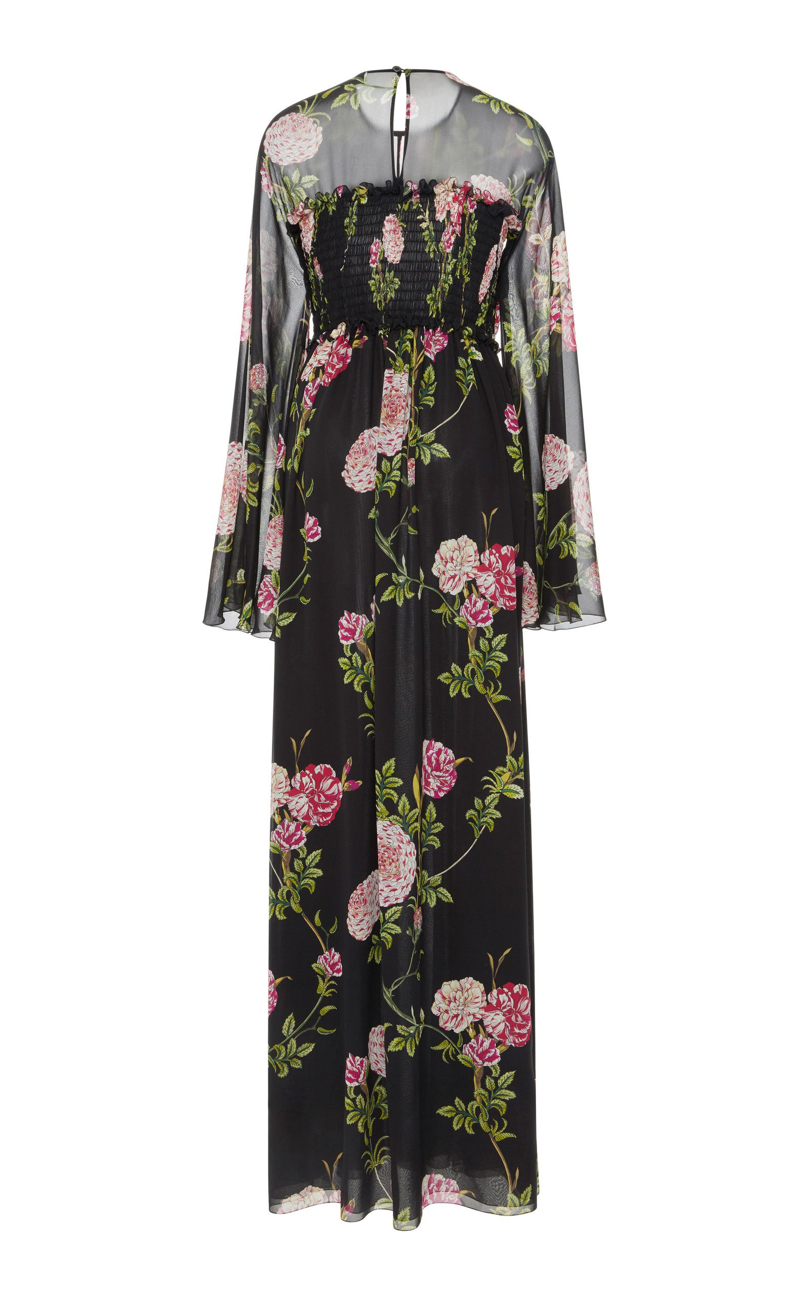 Floralprint silkchiffon maxi dress amaxi dress pinterest