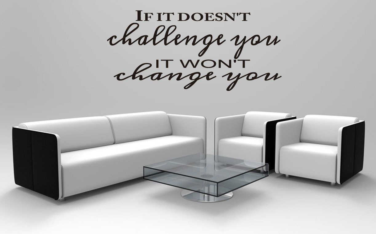 If it doesnut challenge you it wonut change you workout room wall