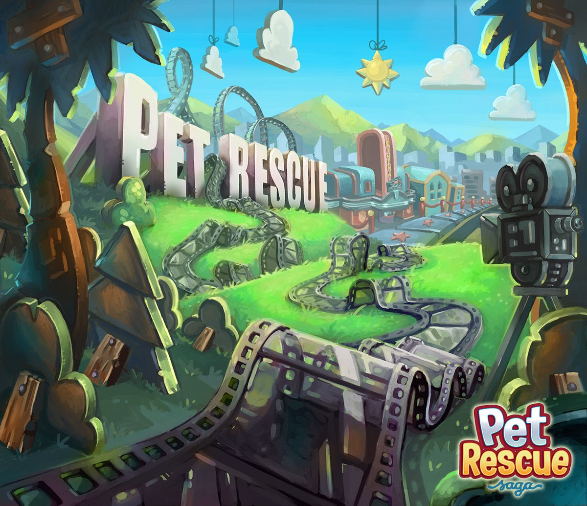 Pet Rescue Saga Background Art on Behance Pet rescue