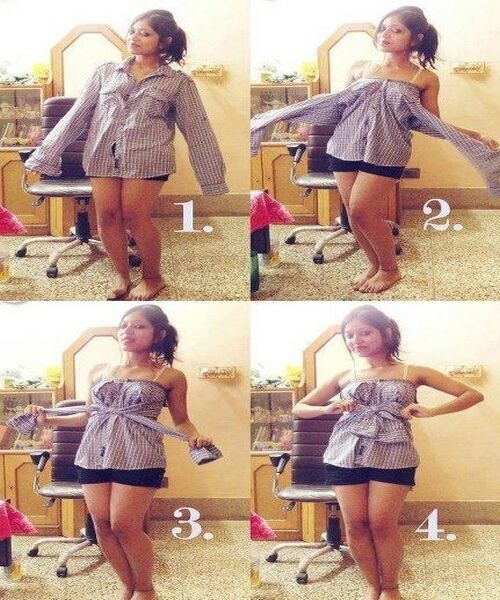 How to use your boyfriend or husband's shirt ;) #Gabrielco #cute