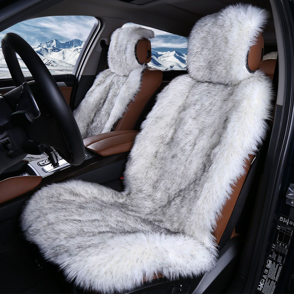2pc Faux Fur Car Seat Cover 5colors Universal Size For All Types Of Seats Very Warm Nice And Soft For Car Lada Gr Car Seats Cute Car Accessories Car Accesories