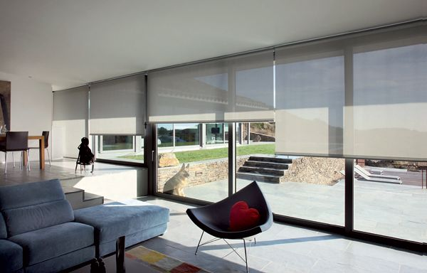 Store enrouleur xxl avec images rideaux design rideau Rideaux baie vitree moderne
