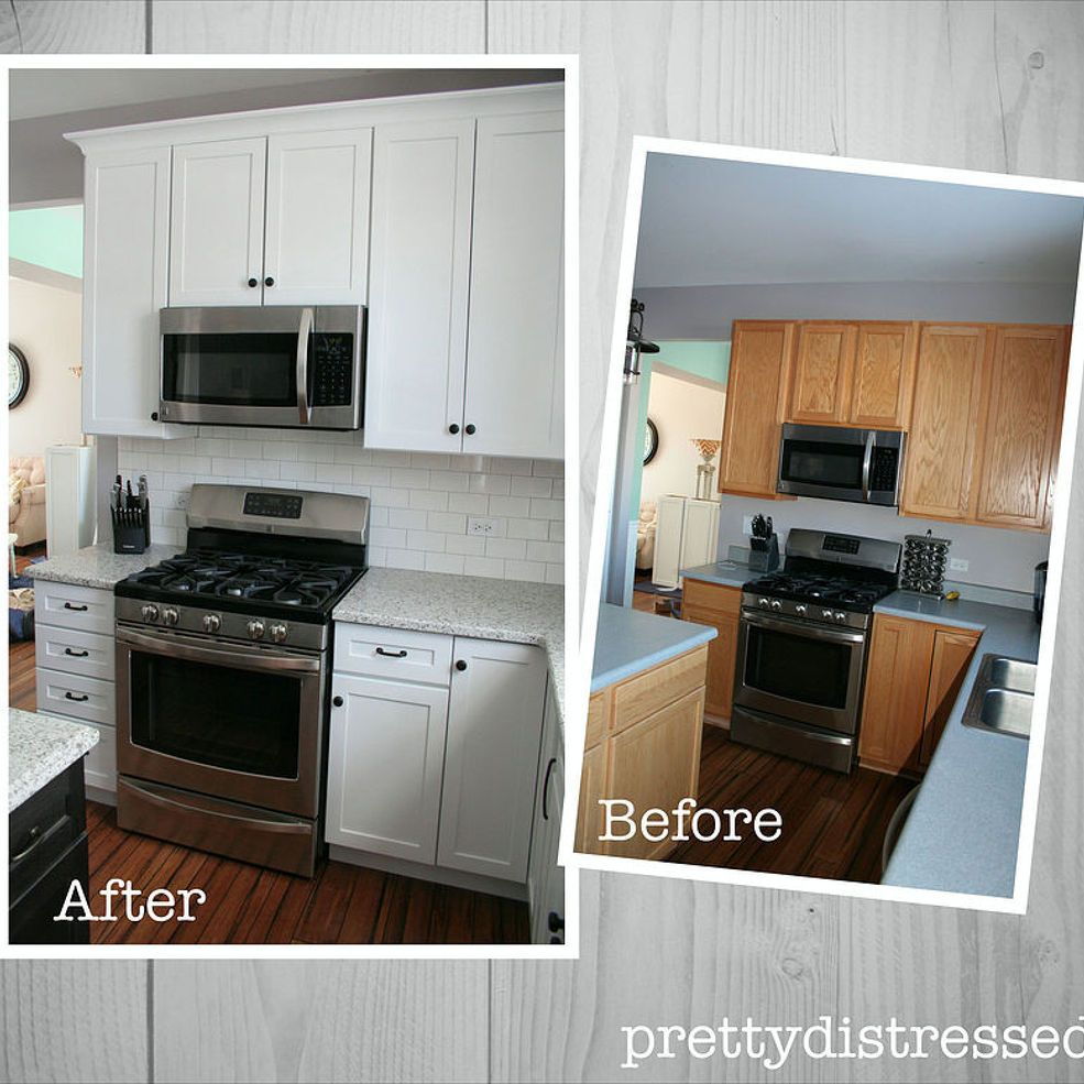 Builder Grade Home Kitchen Remodel Diy Kitchen Remodel Builder Grade Kitchen Kitchen Remodeling Projects
