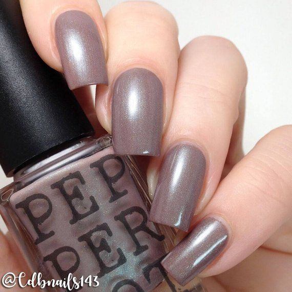 Brown Gray Nail Polish Green Shimmer In Going Pepper Pot Gift Under 15