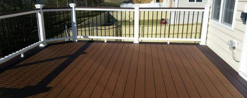 Woodland Brown Trex Select Deck Deck Railings Back