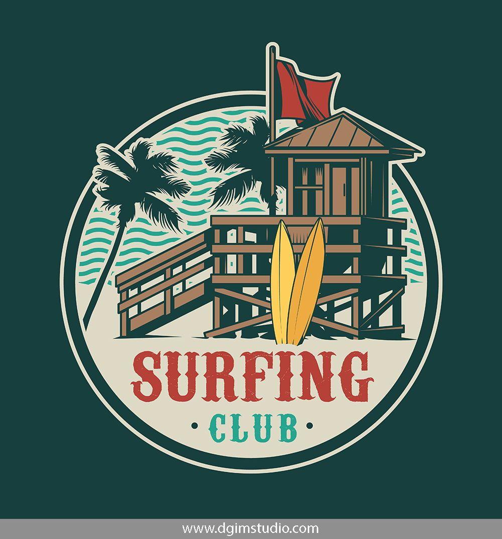 Vintage Surfing Emblems Vintage Surf Emblems Surf Art