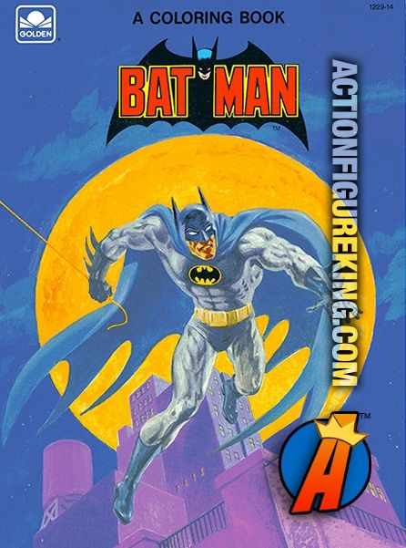 Batman 1989 Golden 52 Page Coloring Book Item Number 1229 14 Features