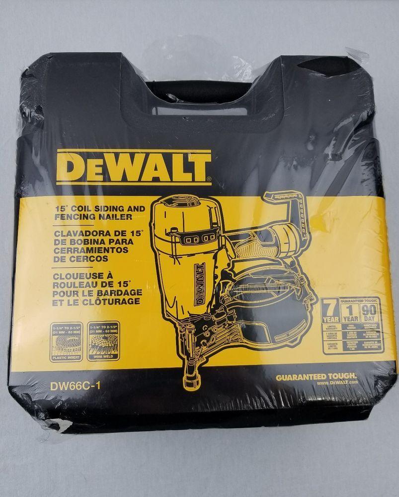 Dw66c 1 Dewalt Pneumatic 15 Degree Coil Siding Nailer 1 1 Amp X2f 4 In To 2 1 Amp X2f 2 In 1 Magazine Capacity 300 350 Nails 2 Total We Dewalt Nailer Siding