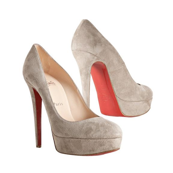 christian louboutin dove gray suede stilettos