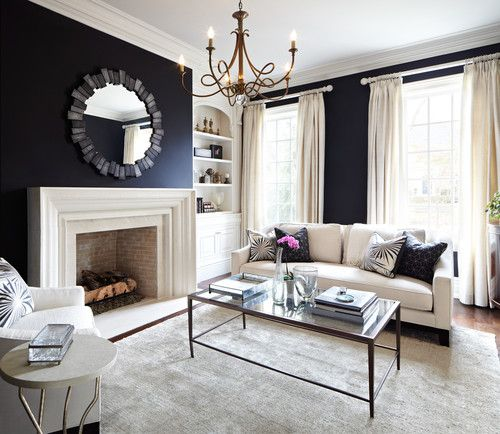 Living Room Black White Charcoal Living Rooms Design Pictures Remodel Decor And Ideas Page 18 With Images Navy Living Rooms Living Room White Blue Living Room