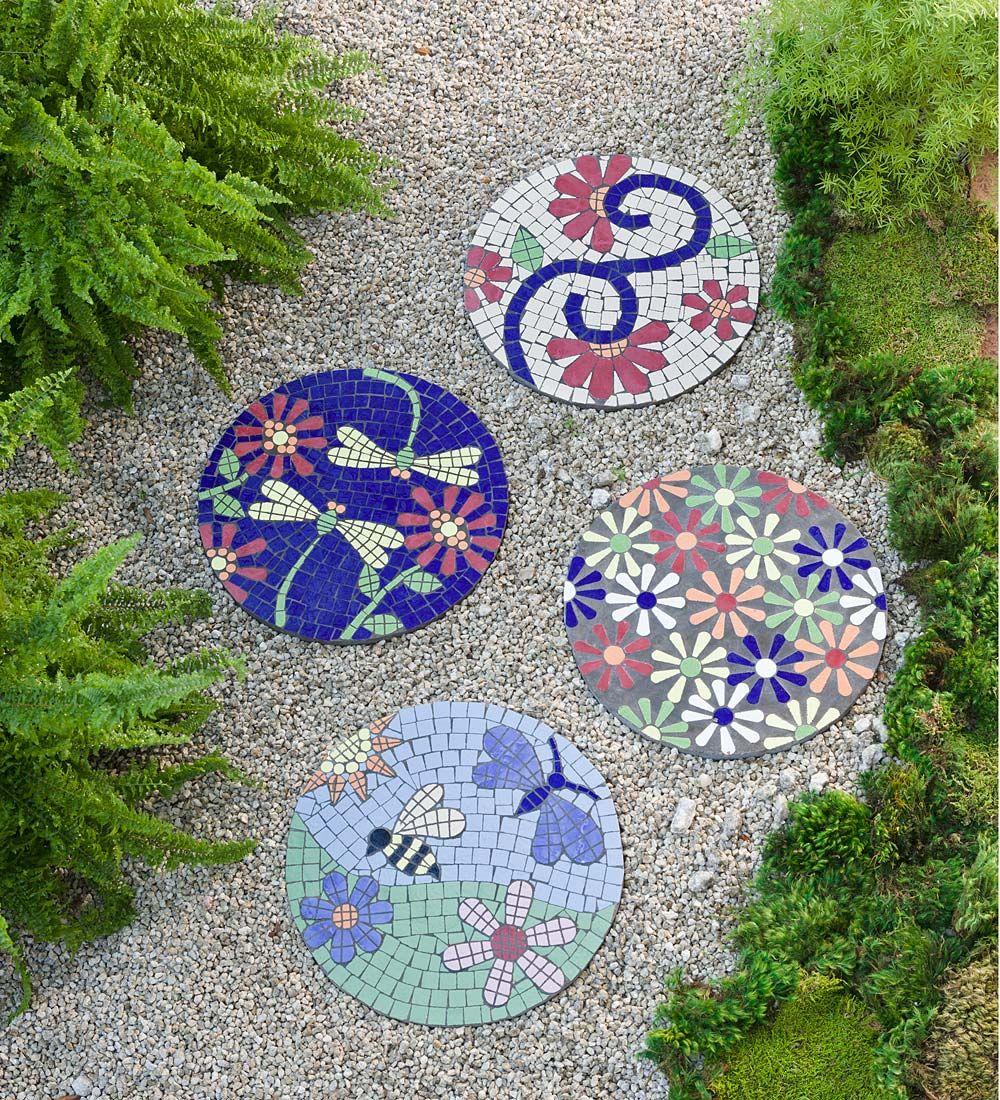 Mosaic Garden Stepping Stone   Pathways   Garden stepping stones ...