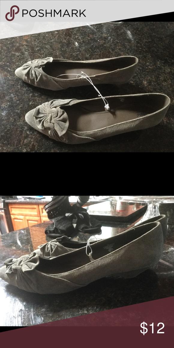 Grey Suede kitten heel, New. Grey suede kitten heel Mossimo Supply Co Shoes Flats & Loafers