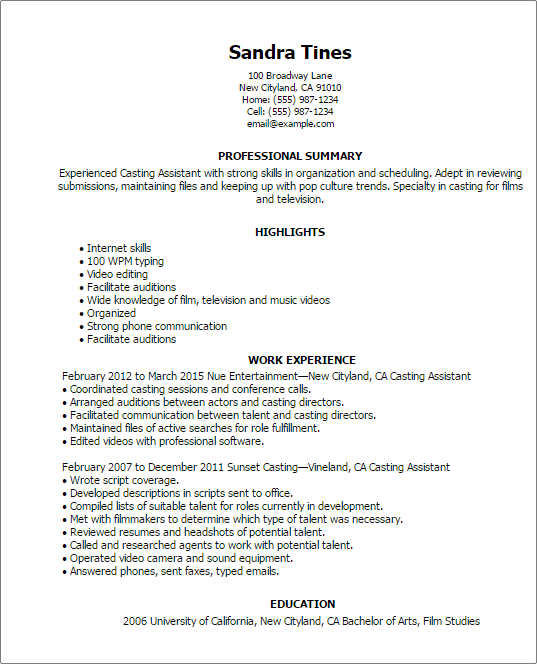 Free Sample Resume Templates Examples: Resume Examples And Templates