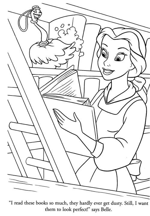 Belle S Books Belle Coloring Pages Cartoon Coloring Pages Disney Coloring Pages