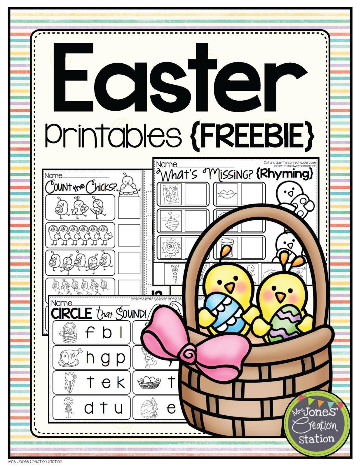 Freebie Friday Easter Printables