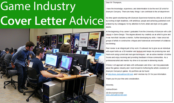 How To Write A Cover Letter For Game Industry Job Applications