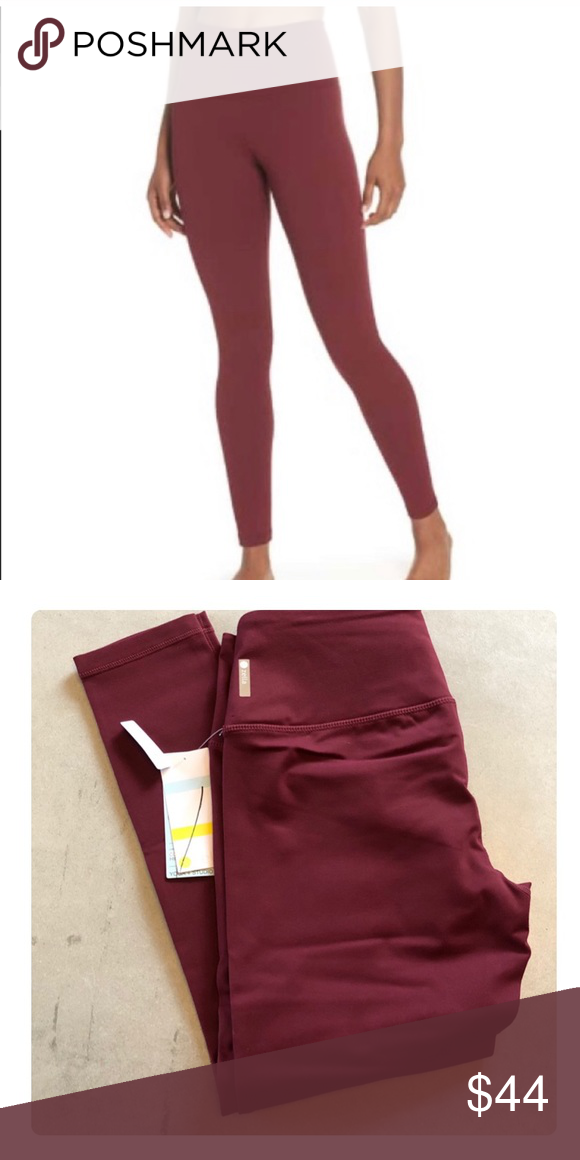 88e87738c56945 Zella live-in midi leggings Nordstrom brand Zella live-in leggings in  maroon. The color is called burgundy crush. Size XS. Brand new with tags.