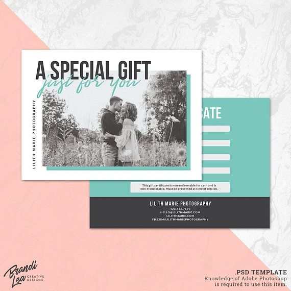 photography gift certificate template photoshop gift card template photography studio gift voucher photo