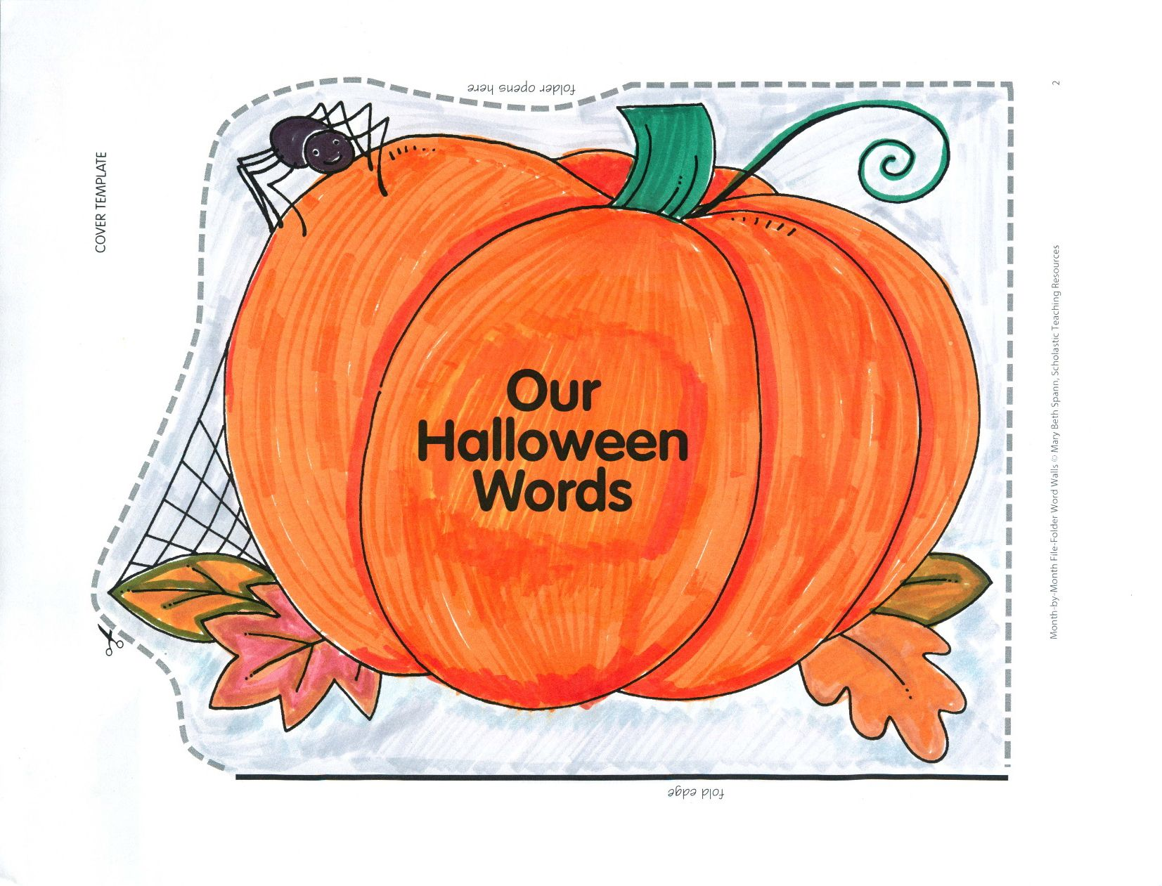 Spooky Pumpkin Will Guard With Care Those Halloween Words That Spook And Scare Use This Pattern And Directions To Mak Halloween Words Word Wall Spooky Pumpkin [ 1261 x 1653 Pixel ]