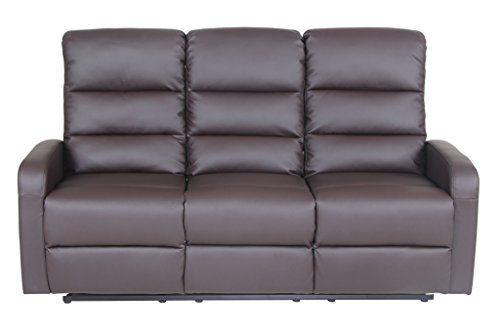 Cheap VIVA HOME Faux Leather PU Ergonomic Recliner Sofa (3 Seater) Brown   sc 1 st  Pinterest & Cheap VIVA HOME Faux Leather PU Ergonomic Recliner Sofa (3 Seater ... islam-shia.org