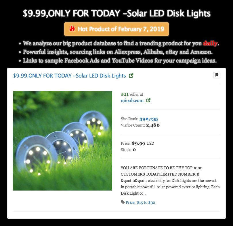 9 99 Only For Today Solar Led Disk Lights Hot Product Of