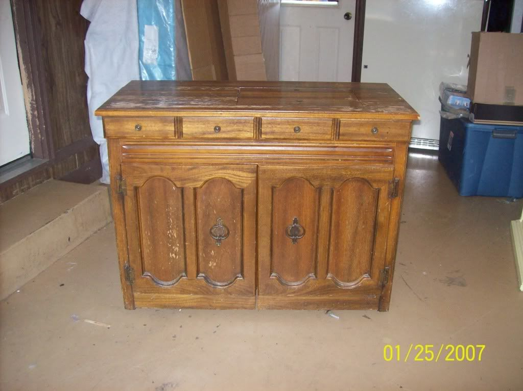 View Thread   Interesting Sewing Machine Cabinet, Ever Seen One?