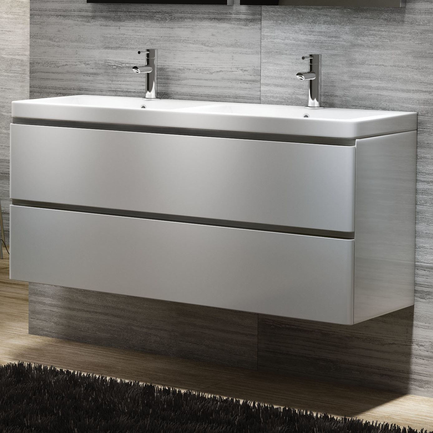 vanity basin units for bathroom. Linear Double Wall Vanity Basin Unit  White available to buy from We stock of Bathroom products at great discount prices our online store Belfry 120cm Mounted Base Wayfair UK Ideas