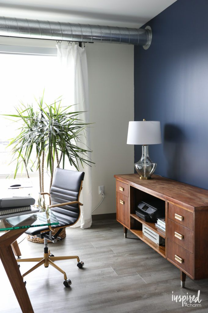 Tremendous Indigo Batik Feature Wall Paint For My Home Office The Onthecornerstone Fun Painted Chair Ideas Images Onthecornerstoneorg
