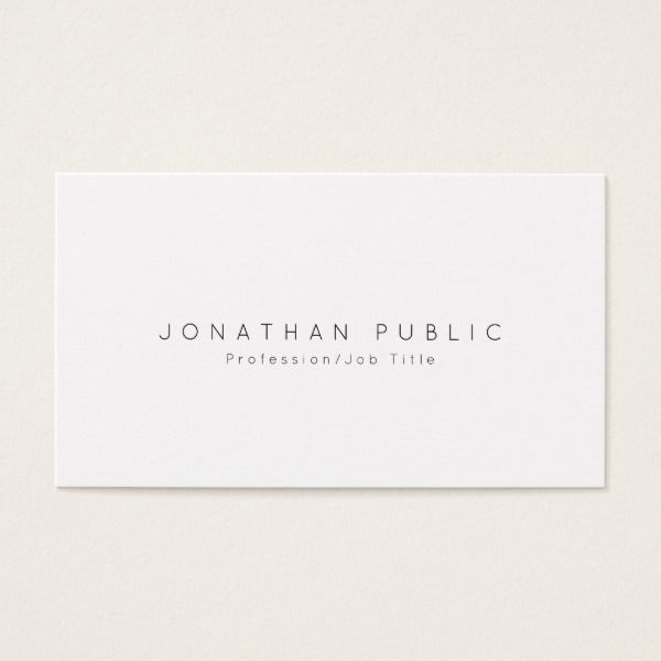 Modern professional elegant white simple plain business card custom modern professional elegant white simple plain business card custom professional business cards for teachers and tutors reheart Gallery