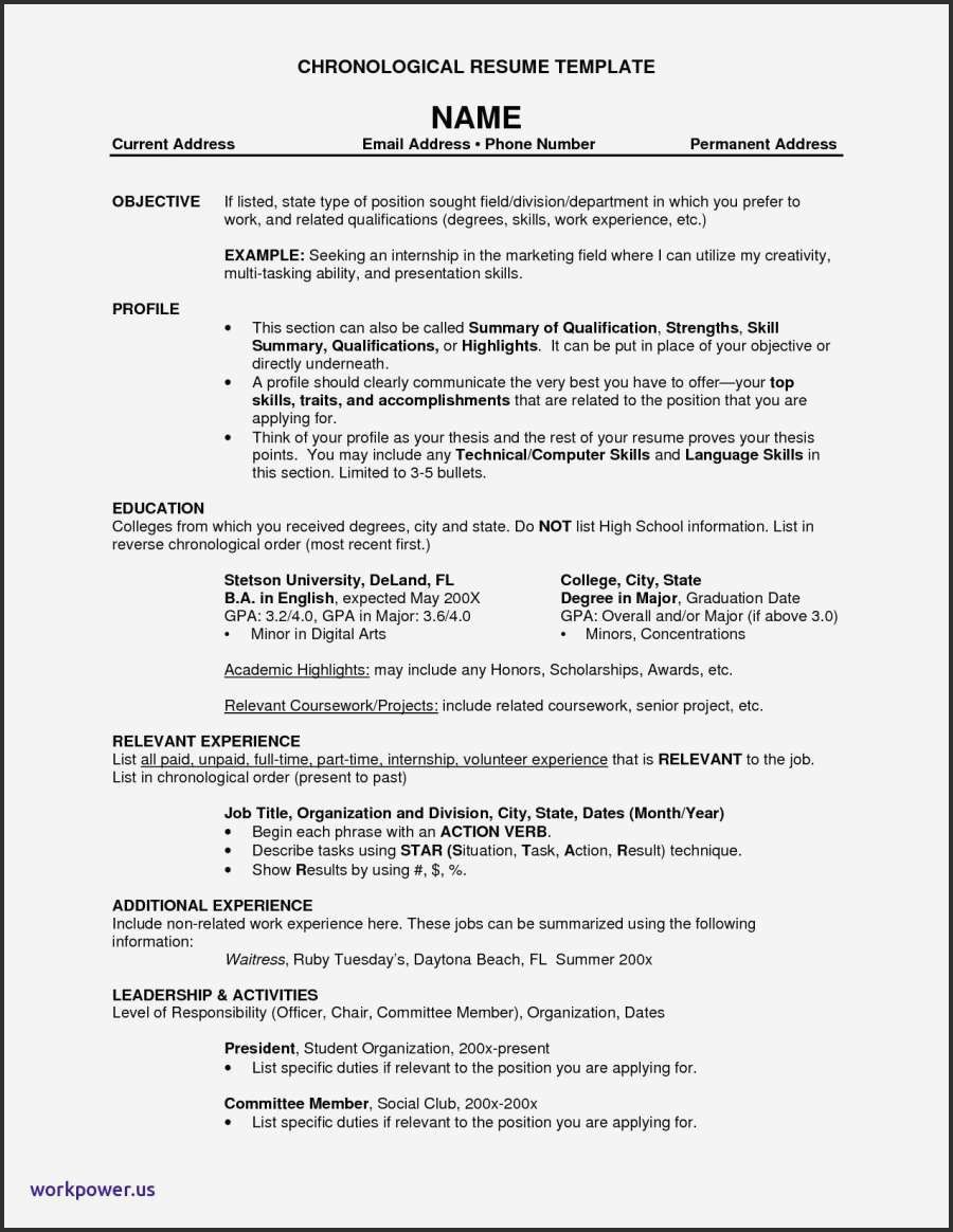 Resume Templates Tamu Resume Templates Resume Examples Chronological Resume Template Resume Template Examples