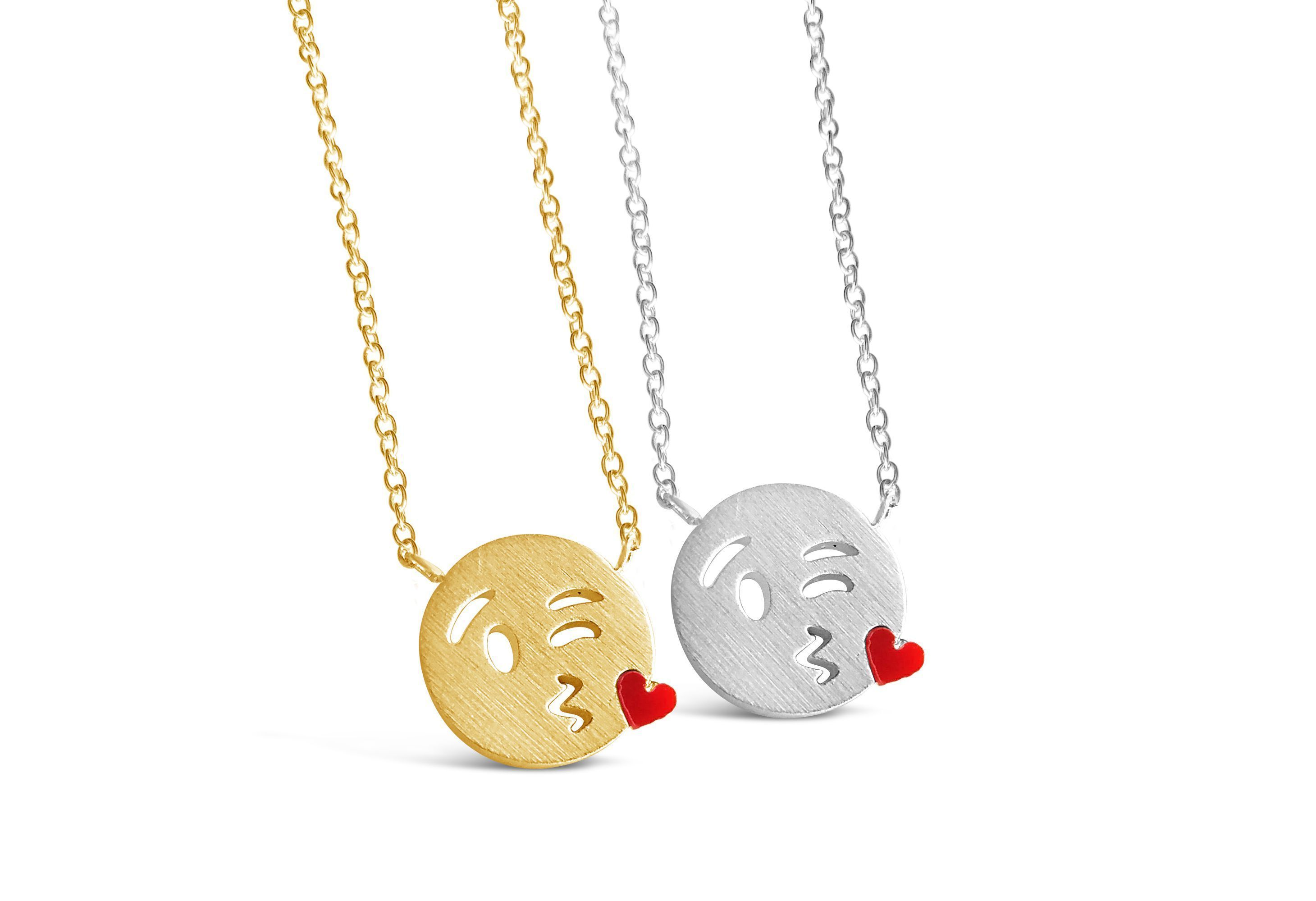 Fantasy, Fetish & Accessories Kiss Emoji Necklace Handsome Appearance Sexual Wellness